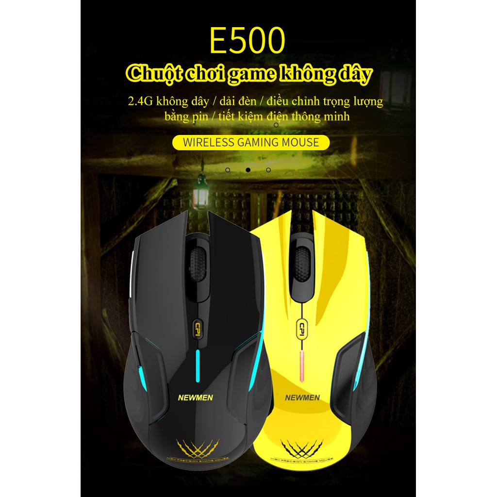 Chuột Không Dây Gaming NEWMEN E500 - Hàng Chính Hãng