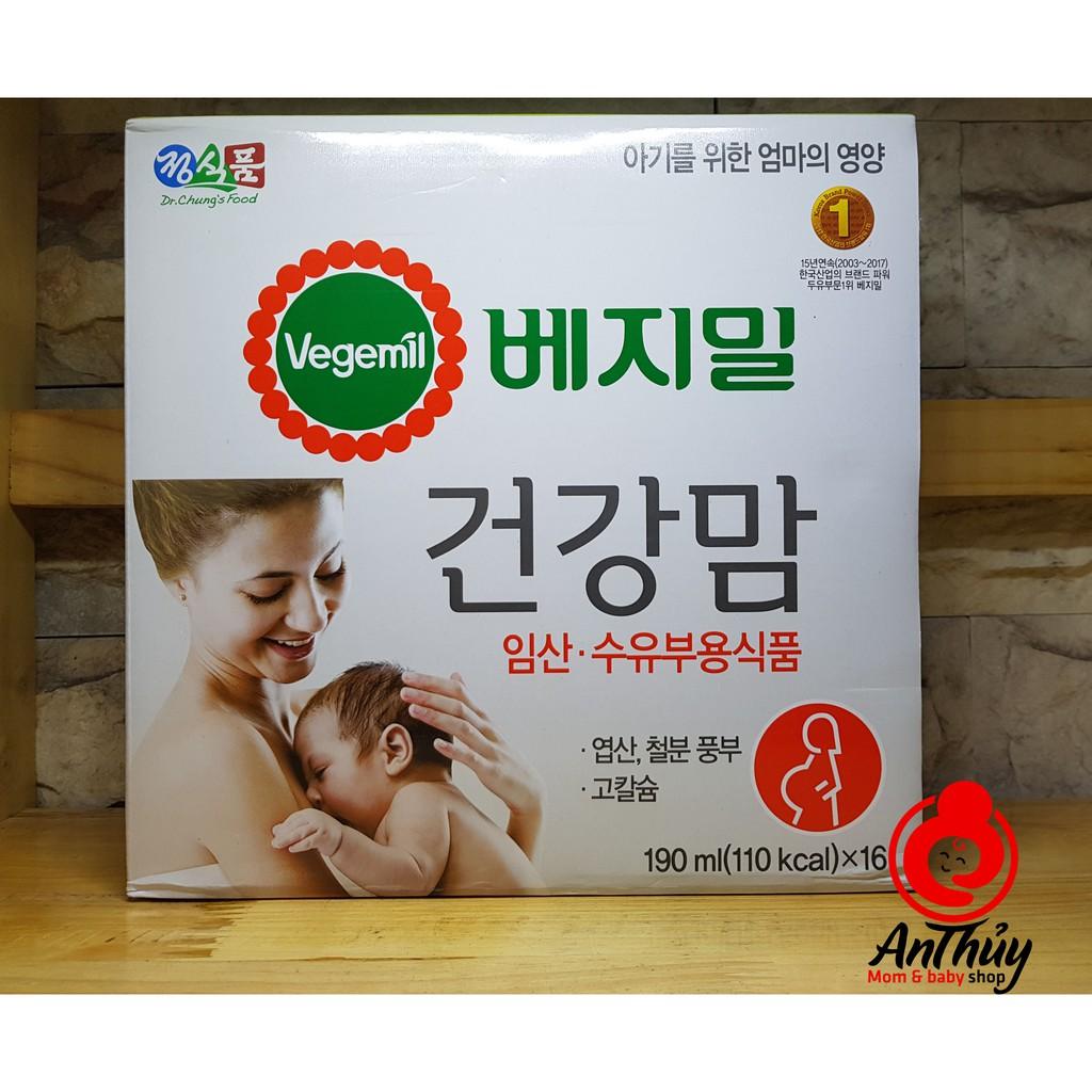 Sữa bầu Vegemil Hàn Quốc 190ml/hộp - 2822278 , 997242644 , 322_997242644 , 290000 , Sua-bau-Vegemil-Han-Quoc-190ml-hop-322_997242644 , shopee.vn , Sữa bầu Vegemil Hàn Quốc 190ml/hộp