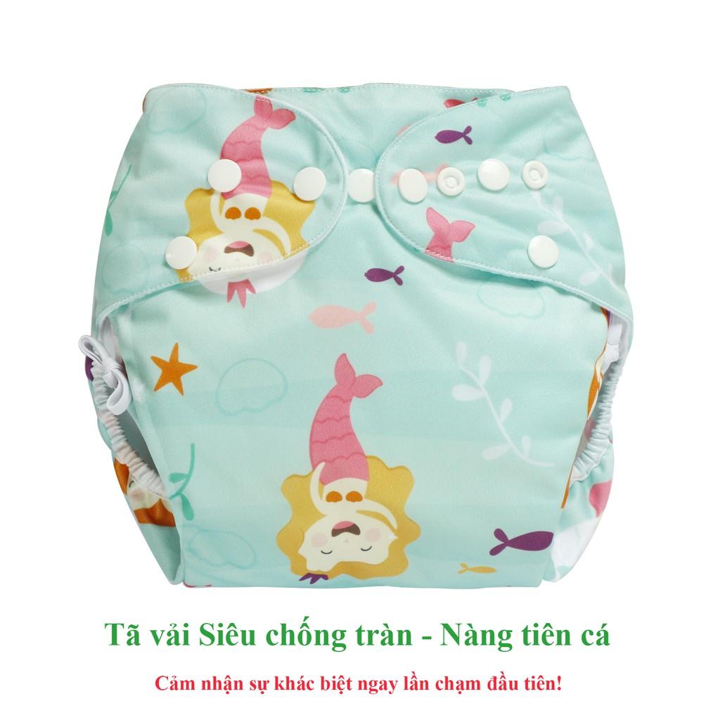 Bộ tã vải Ngày Siêu chống tràn BabyCute size M (8-16kg) (1 vỏ + 1 lót) - Giao mẫu ngẫu