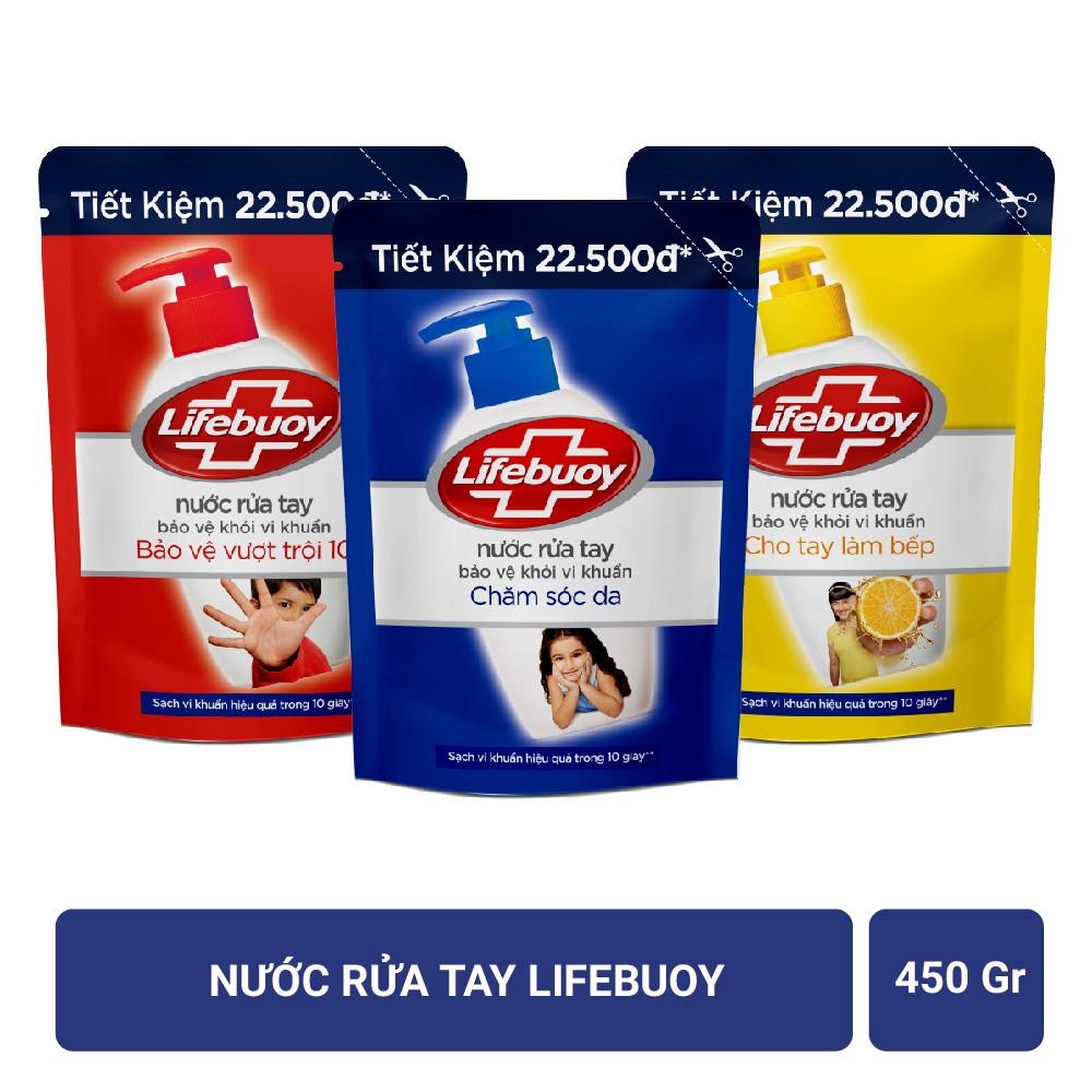 Nước rửa tay Lifebuoy Bảo vệ khỏi vi khuẩn 450gr (Túi)