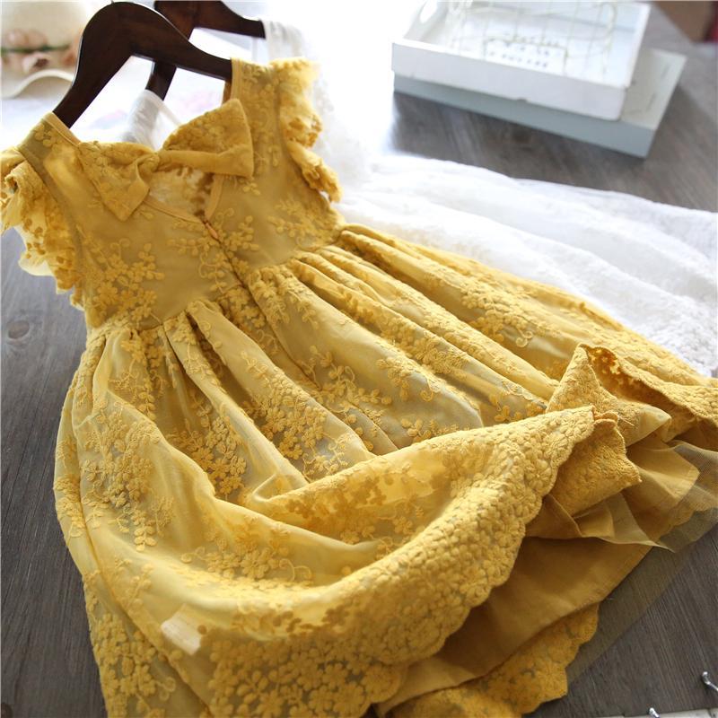 Đầm Ren Công Chúa Thời Trang Cho Bé Gái