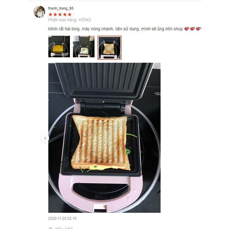 Máy nướng bánh mì sandwich - máy kẹp sandwich - Chính hãng ShuoNing