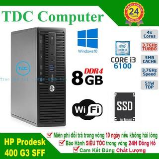 Case máy tính để bàn HP ProDesk 400 G3 main H110, cpu core i3 6100, ram 8GB, SSD 240GB. Hàng Nhập Khẩu.