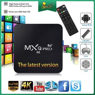 Thiết Bị Chuyển Đổi Tv Thường Thành Smart Tv Box Mxq Pro 5g Android Tv Box 4k 1g + 8g / 2g + 9.0 / 10.1