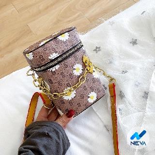 (HOT) Túi Hình Trụ Đựng Vừa Điện Thoại Họa tiết Hoa Cúc HotTrend NEVA828 thumbnail