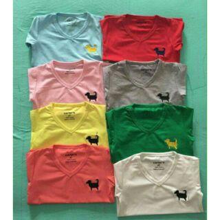 áo cotton lì 4 chiều thêu hình chó cún còn 2 mầu đỏ, vàng thumbnail