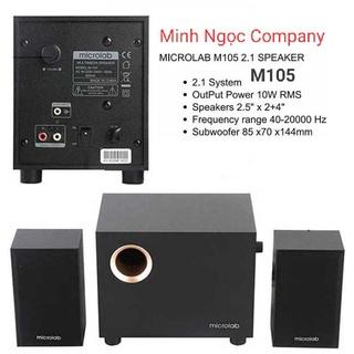 Bộ Loa máy tính Microlab M105 2.1 - Hàng cam kết Chính Hãng bảo hành 12 tháng thumbnail