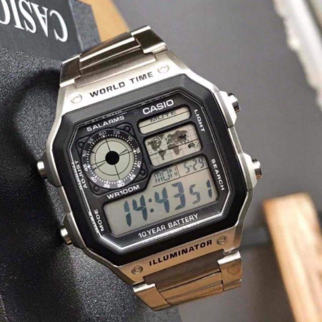 Đồng hồ nam Casio AE-1200WHD-1AVDF (có bán kèm dây da)
