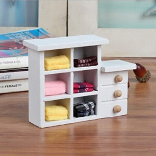 Wooden toys mini cupboard shooting props dolls house furniture accessories