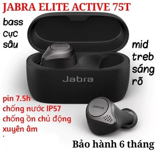 Tai nghe Bluetooth JABRA ELITE ACTIVE 75T không dây true wireless earphone