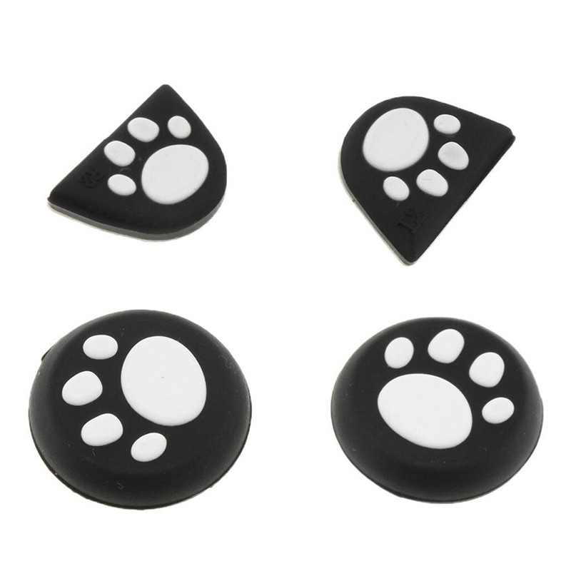 Cat Paw Thumb Stick Grip + L2 R2 Button Cap Cover for PS4 Xbox One