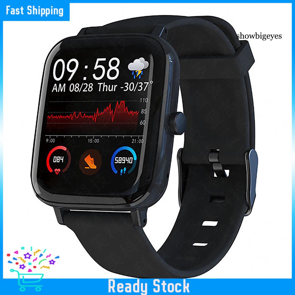 Đồng Hồ Đeo Tay Thông Minh Sh-C Gt168 Bluetooth Màn Hình Cảm Ứng 1.54 Inch Kèm Phụ Kiện
