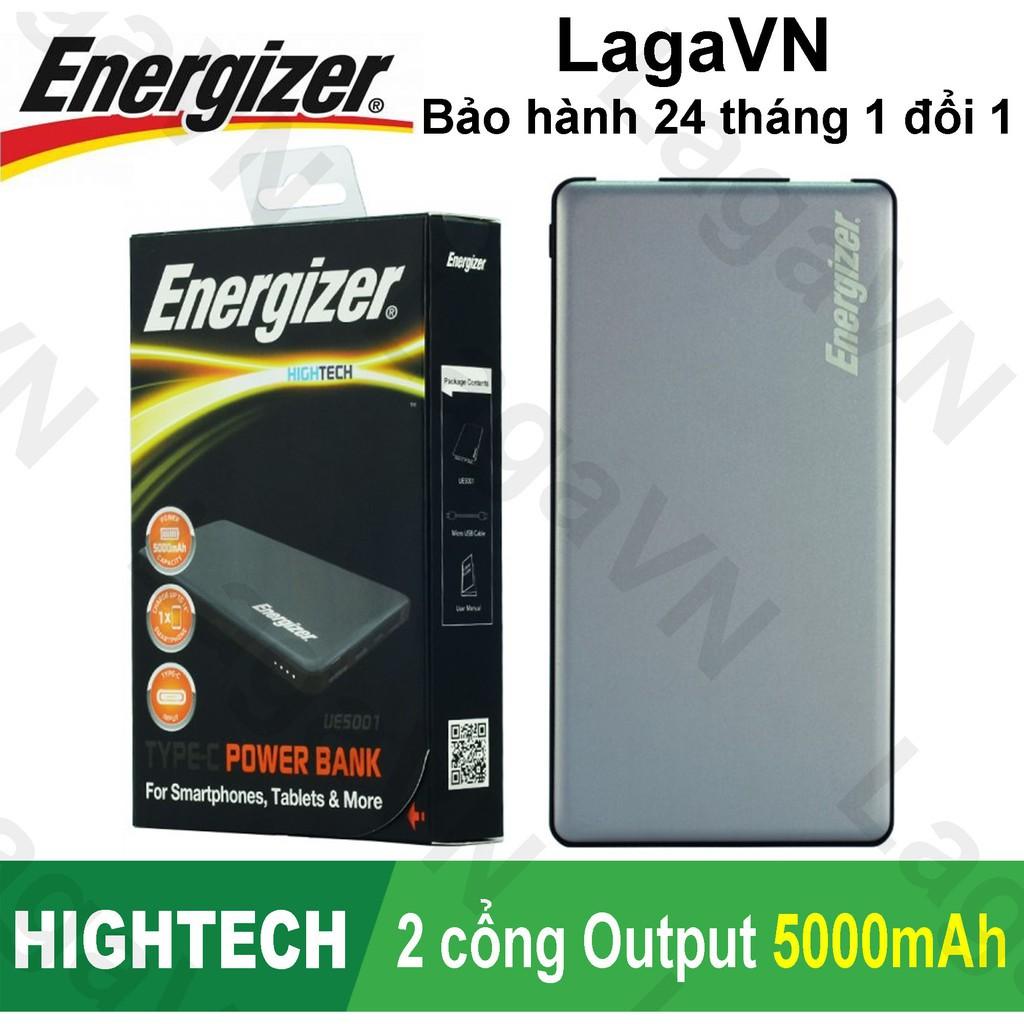 [GENUINE] Pin sạc dự phòng Energizer 5000mAh 2 cổng Output - UE5001 - Hãng phân phối chính thức BH 12T