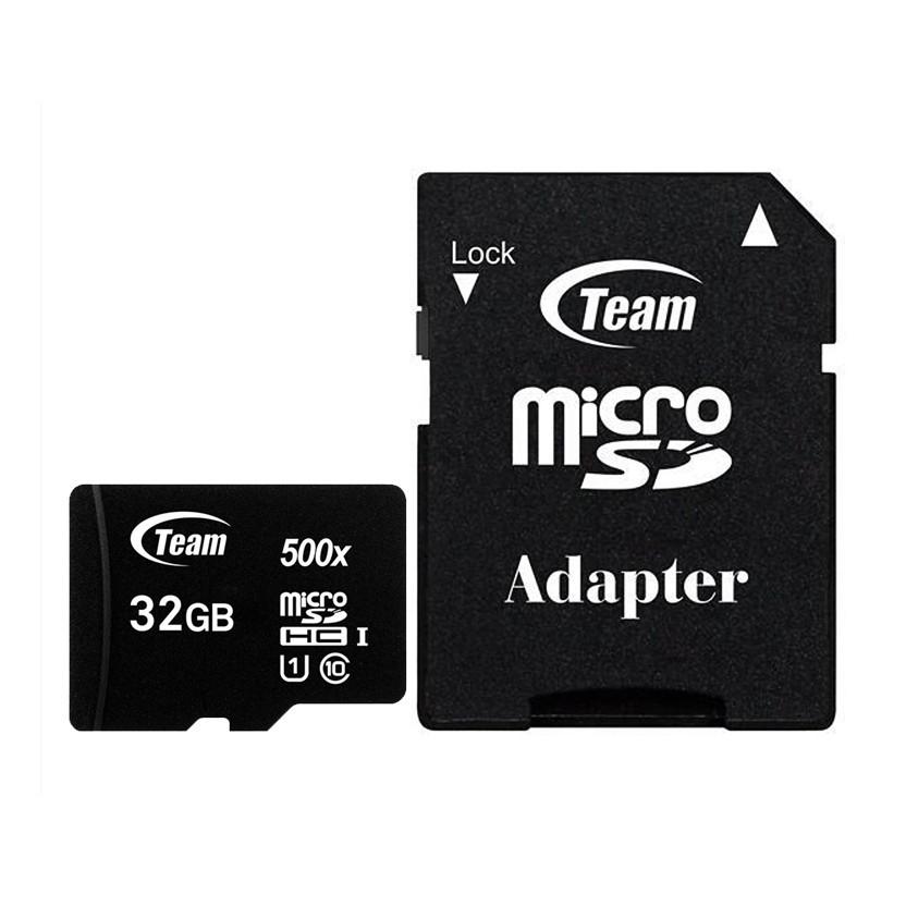 Thẻ nhớ micro SDHC Team 32GB upto 80MB/s 500x class 10 U1 kèm Adapter (Đen) - Hãng phân phối chính thức - 13698084 , 1619540435 , 322_1619540435 , 162750 , The-nho-micro-SDHC-Team-32GB-upto-80MB-s-500x-class-10-U1-kem-Adapter-Den-Hang-phan-phoi-chinh-thuc-322_1619540435 , shopee.vn , Thẻ nhớ micro SDHC Team 32GB upto 80MB/s 500x class 10 U1 kèm Adapter (