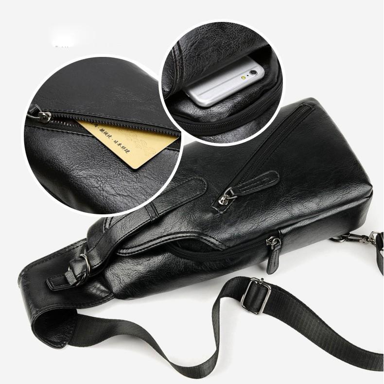 Túi đeo chéo nam da pu thiết kế form đứng trẻ trung- Túi chéo nam TC15
