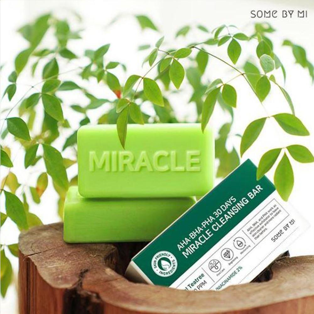 Xà Phòng Giúp Làm Giảm Mụn Some By Mi AHA - BHA - PHA 30 Days Miracle Cleansing Bar 106g