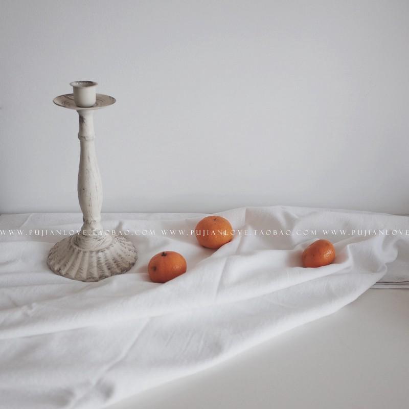 Khăn Trải Bàn Vải Cotton Màu Trắng Kiểu Hàn Quốc Dễ Thương