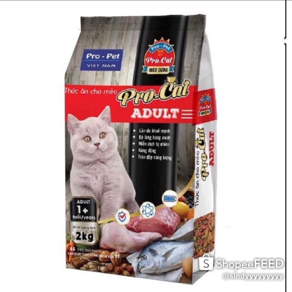 BAO 10 GÓI PRO CAT ADULT 2KG