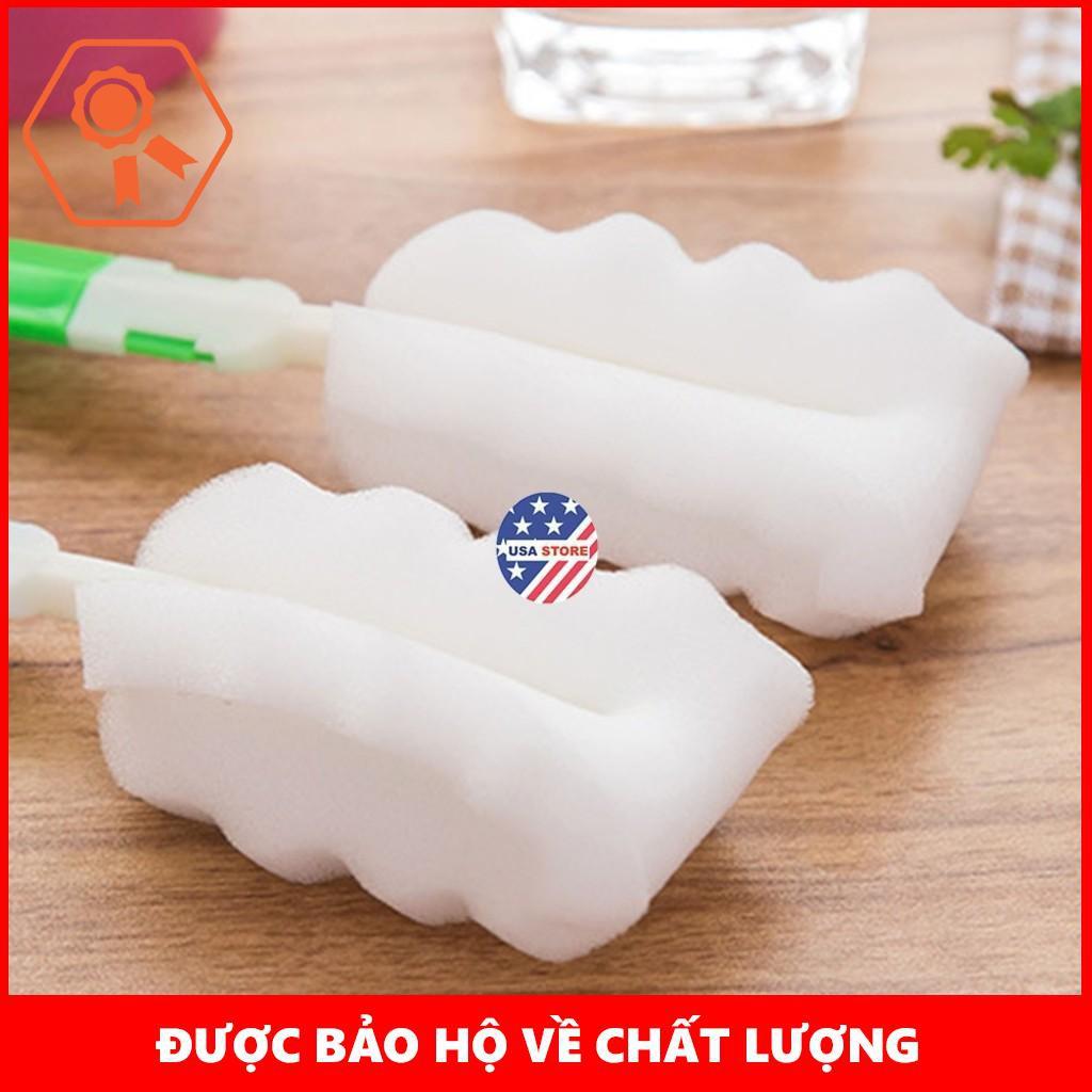Chổi Cọ Bình Sữa Đầu Mút Trắng Kiểu Mới X2 (Giao Màu Ngẫu Nhiên) | TẠI TỪ LIÊM
