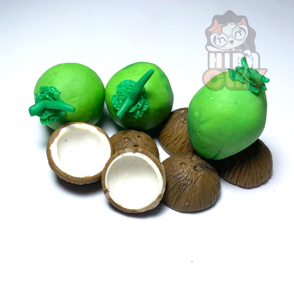 Quả dừa Mini Food, đồ ăn tí hon, đồ ăn mini mô hình cho búp bê DIY