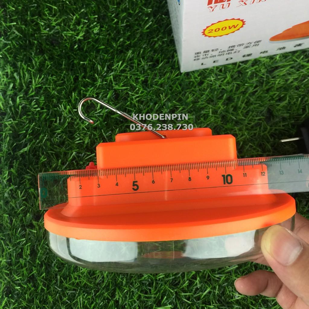 (HÀNG CAO CẤP) Bóng đèn tích điện 8h-10h  loại 200w – 250w sạc tích điện LED có móc treo , bóng tỏa sáng rộng
