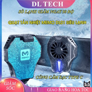 Quạt tản nhiệt gaming cho điện thoại, tản nhiệt sò lạnh siêu mát DL01 DL TECH