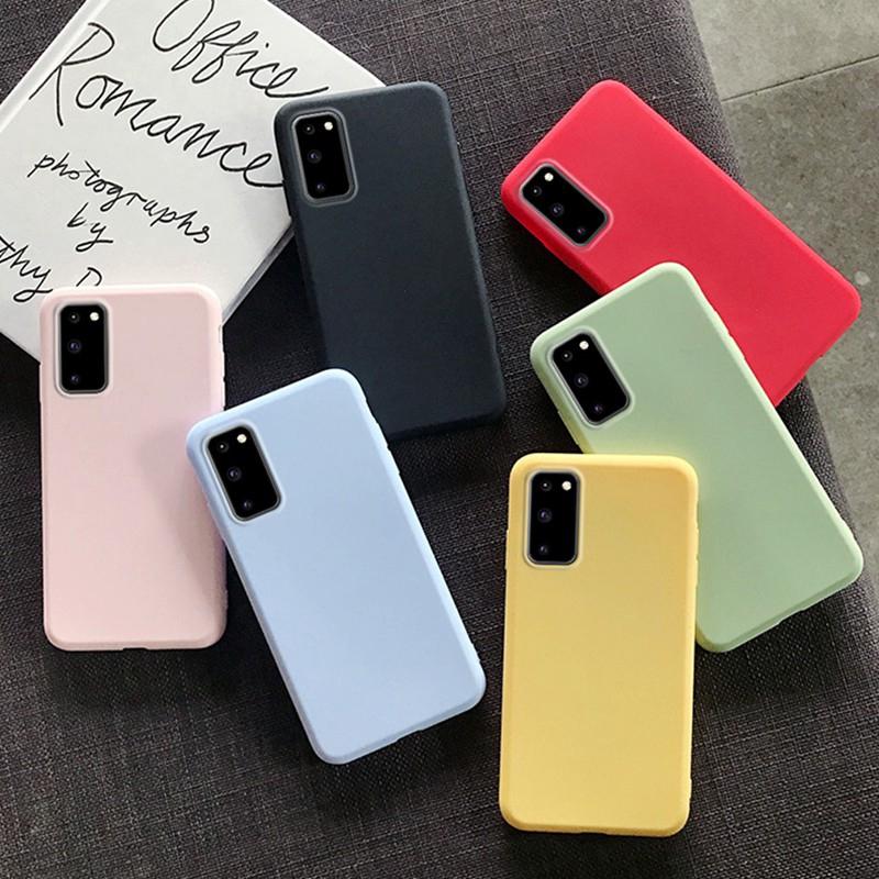 Ốp điện thoại TPU mềm màu kẹo ngọt dành cho Samsung Galaxy A51 A71 A81 A91 S20 S20 Plus S20 Ultra S10 Lite Note 10 Lite