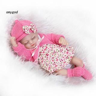 〖OMG〗26cm Lifelike Sleeping Newborn Baby Doll Vinyl Silicone Pretend Play Reborn Toy