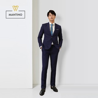 [Mã MABRO220 hoàn 15% đơn 99K tối đa 50K xu] Bộ Vest Xanh Than Vải Tuýt Si Cao Cấp – AV201 – MANTINO