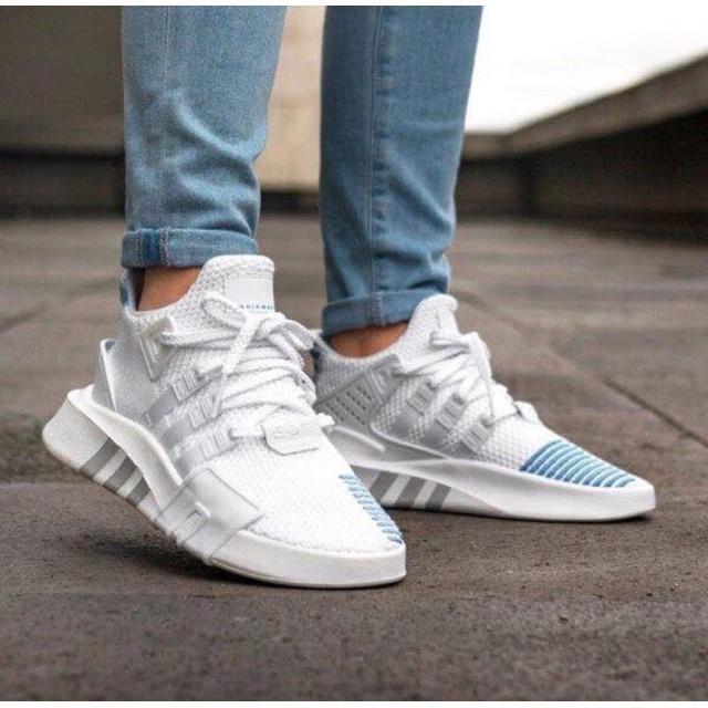 [F⚡️ASH SALE] Giày EQT trắng xanh HOT HIT