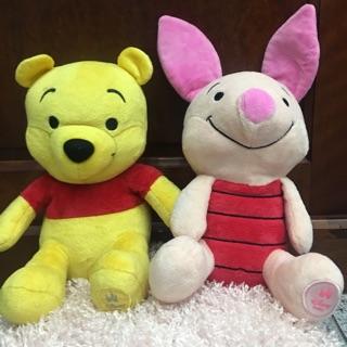 Cặp gấu Pooh và heo hồng có mộc ở chân size 25