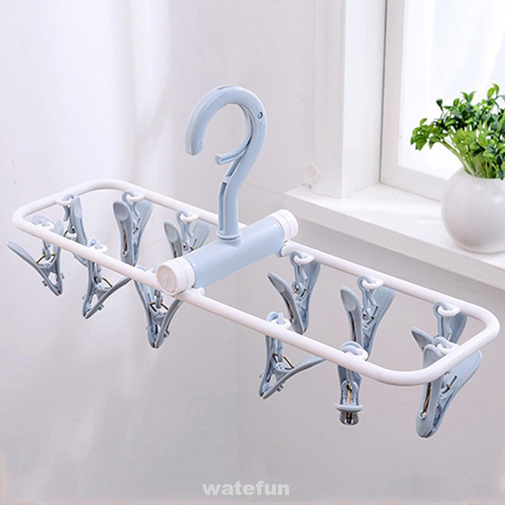 Bathroom Household Non-Slip Drying Plastic Rotatable Travel Windproof Foldable Hanger