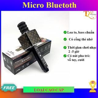 Micro karaoke bluetooth SD18 không dây hát hay, loại tốt  FREE SHIP