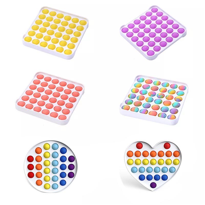 New Design Pop It Fidget Toy Push Bubble Autism Help Relieve Stress