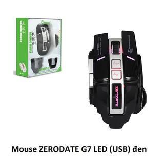 cHUỘT MÁY TÍNH CÓ DÂY ZERODATE G7 USB CÓ ĐÈN LED MÀU ĐEN thumbnail