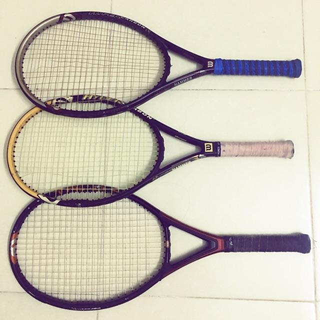Vợt tennis wilson hammer ( 3.3-5.0-6.3 ) dòng vợt trợ lực