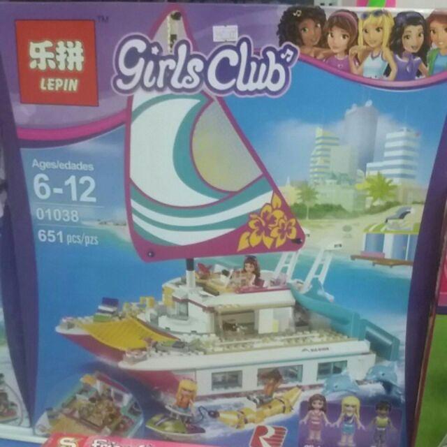 Lego friend 01038. Lego thuyền buồm ánh dương.