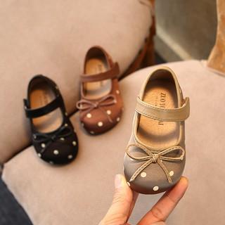 Giày búp bê thời trang mùa xuân chấm bi xinh xắn dành cho trẻ 2020