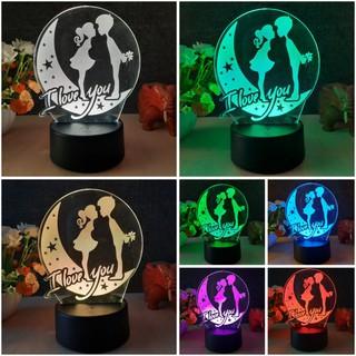 Đèn ngủ LED 3D Cặp Đôi – Quà tặng sinh nhật độc đáo, ý nghĩa cho bạn gái, bạn trai – Đèn trang trí đẹp