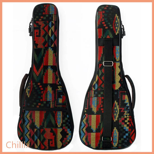 21/23/26 Inch National Style Guitar Bag Portable Guitar Ukulele Case Box Cover Guitar Backpack with Double Strap