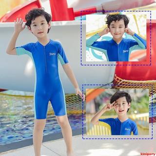 bộ đồ bơi liền thân dài tay in hình trái tim đáng yêu cho bé
