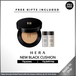 [FREE GIFTS READY TO SHIP] HERA NEW BLACK CUSHION SPF34 PA++ (15g refill only, 15g with case) thumbnail