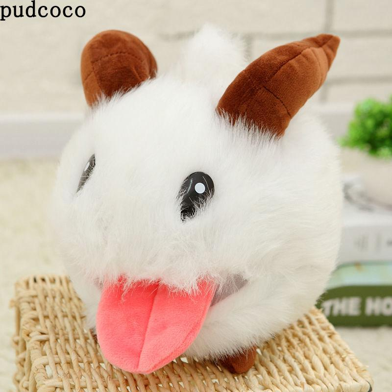N.V-White LOL Poro Rabbit: Cute lush Stuffed Toy Figure Doll White Cute Mouse