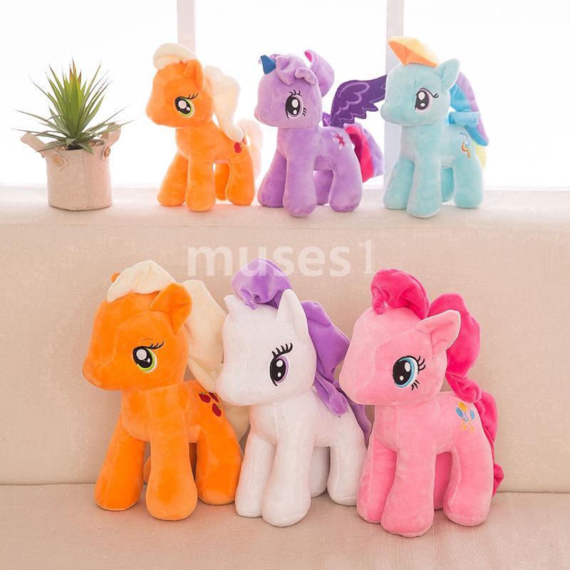 【FUN】Pony Plush Toy Chính Hãng Dễ Thương Phim Hoạt Hình Búp Bê Cầu Vồng Unicorn Doll Kids Cô Gái Đồ Chơi