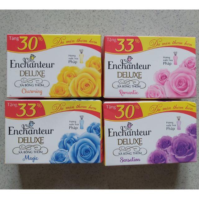 (Chọn mùi) Enchanteur - xà bông cục 90g tăng 30% lên 117g