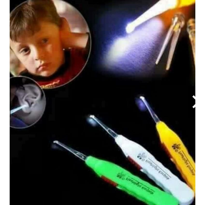 Dụng cụ lấy dáy tai có đèn soi lỗ tai( có hộp đựng)