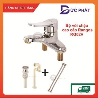 Bộ vòi chậu rửa mặt đồng cao cấp Rangos RG-02V