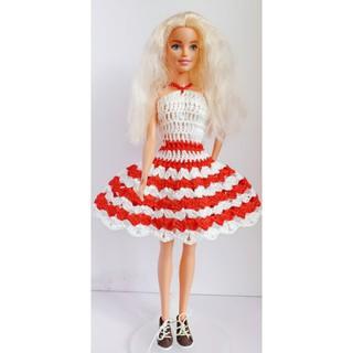 Váy len búp bê 28-30 cm .