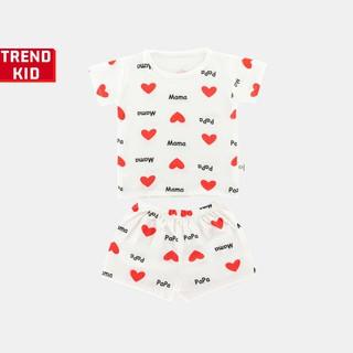 [Mã TREND20 giảm 15% đơn 99K] Bộ quần áo bé trai bé gái chất liệu 100% cotton hình yêu ba mẹ michley