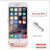 Ốp lưng kiêm pin sạc dự phòng iPhone 6 ,6s tặng Tai nghe Bluetooth Music - LKL.1028